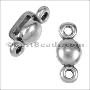 5mm flat PLAIN COMBO spacer ANT SILVER - per 10 pieces