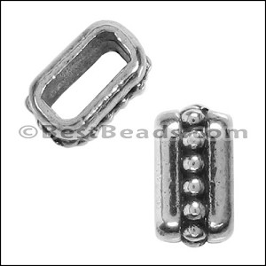 5mm flat SMALL DOTS spacer ANT SILVER - per 10 pieces