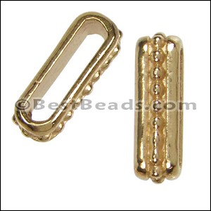 10mm flat SMALL DOTS spacer SHINY GOLD - per 10 pieces