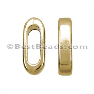 5mm round DOUBLE STRAIGHT BAR slider GOLD - per 10 pieces