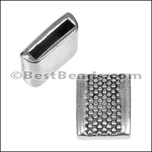 10mm flat LARGE DOT slider ANT SILVER - per 10 pieces