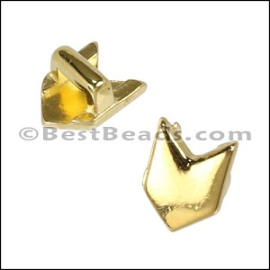 3mm flat CHEVRON slider SHINY GOLD - per 10 pieces