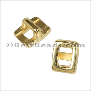 3mm flat RECTANGLE FRAME slider GOLD - per 10 pieces