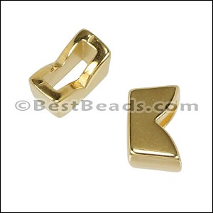 6mm flat NOTCHED slider SHINY GOLD - per 10 pieces
