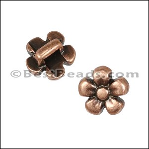 3mm flat DAISY slider ANT COPPER - per 10 pieces