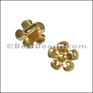 3mm flat DAISY slider SHINY GOLD - per 10 pieces