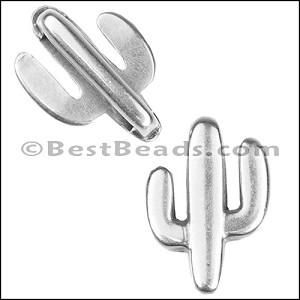 10mm flat CACTUS slider ANT SILVER - per 10 pieces