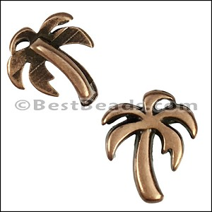 5mm flat PALM TREE slider ANT COPPER - per 10 pieces