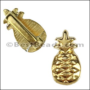 5mm flat PINEAPPLE slider GOLD - per 10 pieces