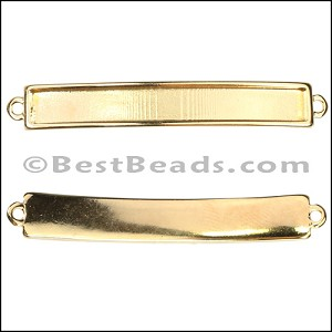 5mm flat ID BAR slider GOLD - per 10 pieces