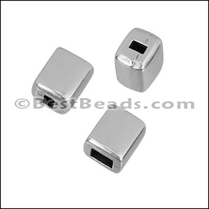 3mm flat BRIDGE BEAD end cap ANT SILVER - per 10 pieces