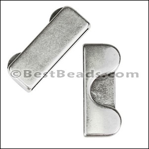 30mm flat ROLLING HILLS slider ANTIQUE SILVER - per 10 pieces