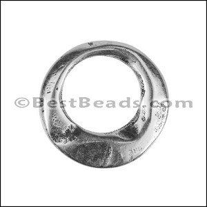 SMALL IRREGULAR RING slider ANT SILVER - per 10 pieces