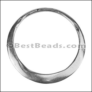 LARGE IRREGULAR RING slider ANT SILVER - per 5 pieces