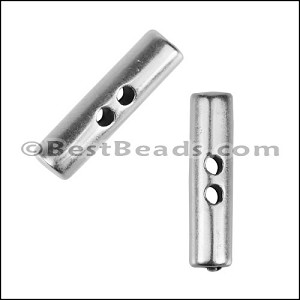 TWO HOLE CYLINDER BAR slider ANT SILVER - per 10 pieces