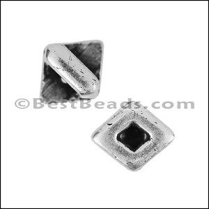3mm flat OPEN DIAMOND slider ANT SILVER - per 10 pieces