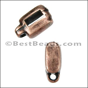 5mm flat CHARM HOLDER slider ANT COPPER - per 10 pieces