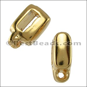 5mm flat CHARM HOLDER slider GOLD - per 10 pieces