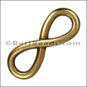 multi INFINITY slider ANT BRASS - per 10 pieces