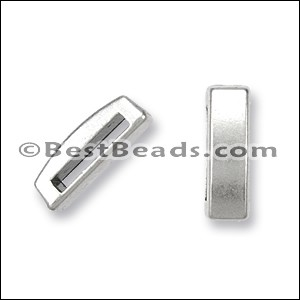 13mm flat THIN BAR slider ANT SILVER - per 10 pieces
