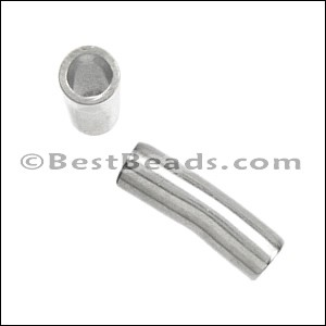 5mm round PLAIN TUBE slider ANT SILVER - per 10 pieces