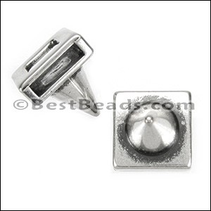 10mm flat CONE slider ANT SILVER - per 10 pieces