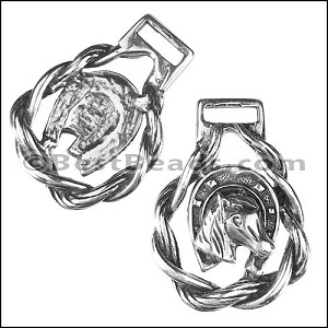 10mm flat HORSESHOE keychain - per 5 pieces