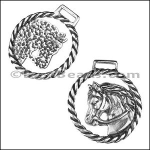 10mm flat HORSE HEAD keychain - per 5 pieces