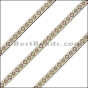 6mm Flat LASER ETCHED Leather Style 2 CEMENT - per strip