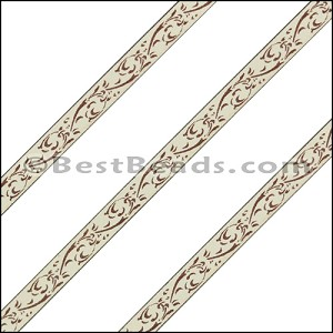 6mm Flat LASER ETCHED Leather Style 3 CEMENT - per strip