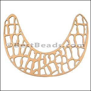 LASER CUT Leather JEWELRY COMPONENT Style 1 NATURAL - per piece