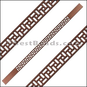 10mm Flat LASER CUT Leather Style 2 MONEYPENNY - per piece