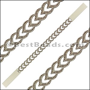 10mm Flat LASER CUT Leather Style 4 CEMENT - per piece