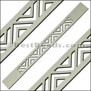 20mm Flat LASER CUT Leather Style 2 CEMENT - per piece
