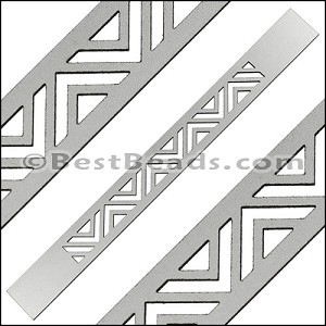 20mm Flat LASER CUT Leather Style 2 ANT SILVER - per piece