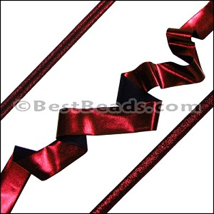 Lycra Ribbon METALLIC GARNET - per 10m SPOOL