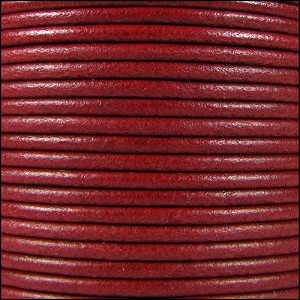 2mm Round Mediterranean Leather RED - per 20m SPOOL