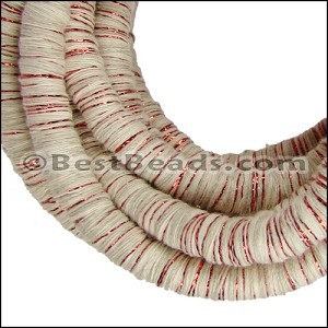 10mm round Knitted Cord BEIGE/COPPER - per 3 meters
