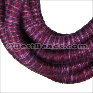 10mm round Knitted Cord PURPLE - per 3 meters