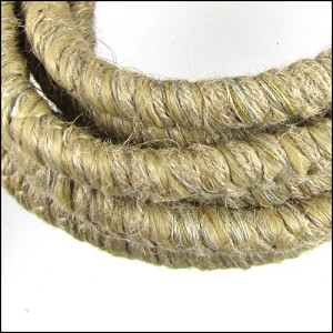 10mm round Knitted Cord NATURAL - per 3 meters