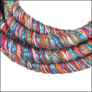 10mm round Knitted Cord MULTI - per 3 meters