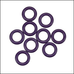 10mm rubber o-rings per 10 pieces AMETHYST