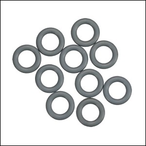 10mm rubber o-rings per 10 pieces CHARCOAL