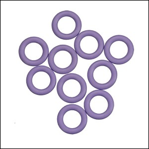 10mm rubber o-rings per 10 pieces HEATHER