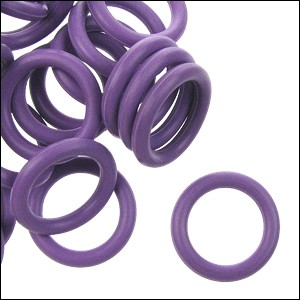 12mm rubber o-rings per 10 pieces AMETHYST
