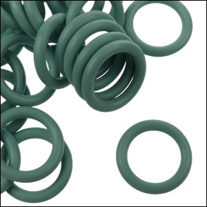 12mm rubber o-rings per 10 pieces SAGE GREEN