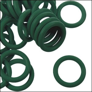 12mm rubber o-rings per 10 pieces FOREST GREEN