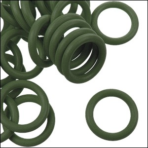 12mm rubber o-rings per 10 pieces ARMY GREEN