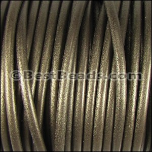 5mm Round Portuguese Leather METALLIC BRONZE - per 10 feet
