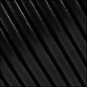 5mm Round Portuguese Leather BLACK - per 10 feet